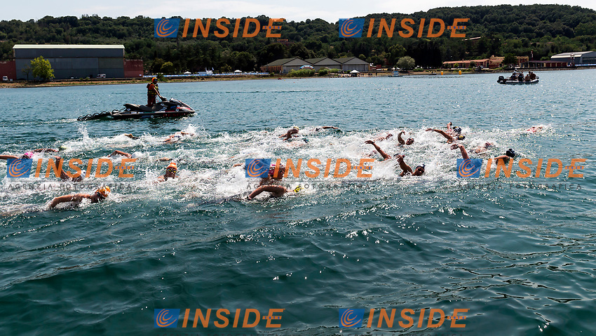 Panoramica <br /> Vigna di Valle 14-06-2017 <br /> Campionato Italiano FIN Nuoto di Fondo <br /> 10Km Donne <br /> Foto Andrea Staccioli/Insidefoto/Deepbluemedia
