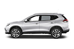 Car Driver side profile view of a 2014 Nissan X-TRAIL Tenka 5 Door SUV 2WD Side View