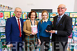 Julia O&rsquo;Garvey (Colaiste Na Sceilge) received first prize at the ETB Christmas Card competition at the ETB offices in Centrepoint, Tralee on Monday. <br /> L-r, Colm McEnvoy (Kerry ETB), Ann O&rsquo;Dwyer (Kerry ETB), Judy O&rsquo;Garvey (Colaiste na Sceilge), Hugh Culloty (Expert Electronics and Music)