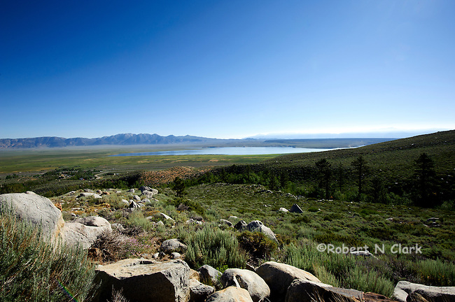 View of Lake Crowley from the McGee Creek Rd