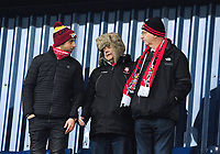Lincoln City U18 fans enjoy the pre-match atmosphere<br /> <br /> Photographer Andrew Vaughan/CameraSport<br /> <br /> FA Youth Cup Round Three - West Bromwich Albion U18 v Lincoln City U18 - Tuesday 11th December 2018 - The Hawthorns - West Bromwich<br />  <br /> World Copyright &copy; 2018 CameraSport. All rights reserved. 43 Linden Ave. Countesthorpe. Leicester. England. LE8 5PG - Tel: +44 (0) 116 277 4147 - admin@camerasport.com - www.camerasport.com