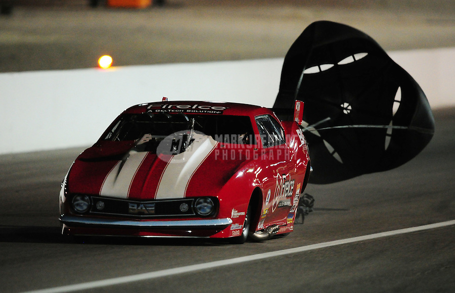 Oct. 28 2011; Las Vegas, NV, USA: NHRA pro mod driver Jay Payne during qualifying for the Big O Tires Nationals at The Strip at Las Vegas Motor Speedway. Mandatory Credit: Mark J. Rebilas-US PRESSWIRE