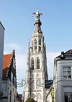 Nederland Breda  2015 . De Grote of Onze-Lieve-Vrouwekerk is het belangrijkste monument van Breda.  Foto Berlinda van Dam / Hollandse Hoogte