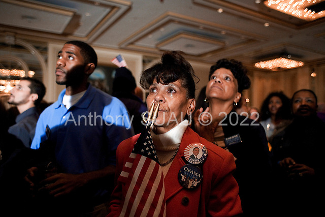 Chicago, Illinois.November 4, 2008.USA..A party hosted by Jessie Jackson Jr. is held in the Hilton Hotel as Senator Barack Obama is elected President of the United States of America.