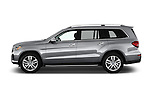Car Driver side profile view of a 2017 Mercedes Benz GLS-Class GLS450 5 Door SUV Side View