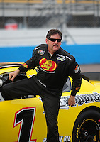 Apr 16, 2009; Avondale, AZ, USA; NASCAR Camping World Series West driver Jim Inglebright prior to the Jimmie Johnson Foundation 150 at Phoenix International Raceway. Mandatory Credit: Mark J. Rebilas-