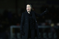 Manchester United manager Casey Stoney during Arsenal Women vs Manchester United Women, FA WSL Continental Tyres Cup Football at Meadow Park on 7th February 2019