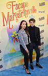 """Ramian Newton and guest attending the Broadway Opening Night Performance of  """"Escape To Margaritaville"""" at The Marquis Theatre on March 15, 2018 in New York City."""