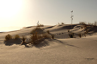 Sand dunes at White Sands National Monument in New Mexico.