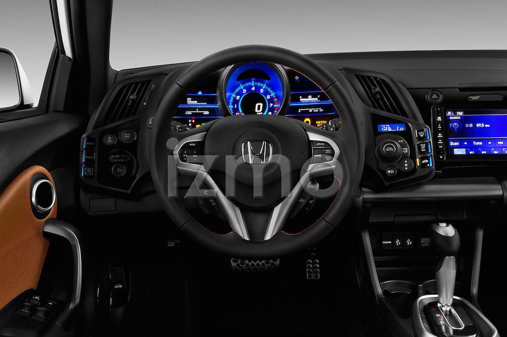 Car pictures of steering wheel view of a 2016 Honda CRZ EX 3 Door Hatchback Steering Wheel