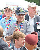 A group of Korean War Veterans stand as they are recognized during U.S. President Barack Obama's remarks marking the 60th Anniversary of the Korean War Armistice at the Korean War Veterans Memorial in Washington, D.C. on Saturday, July 27, 2013.<br /> Credit: Ron Sachs / Pool via CNP