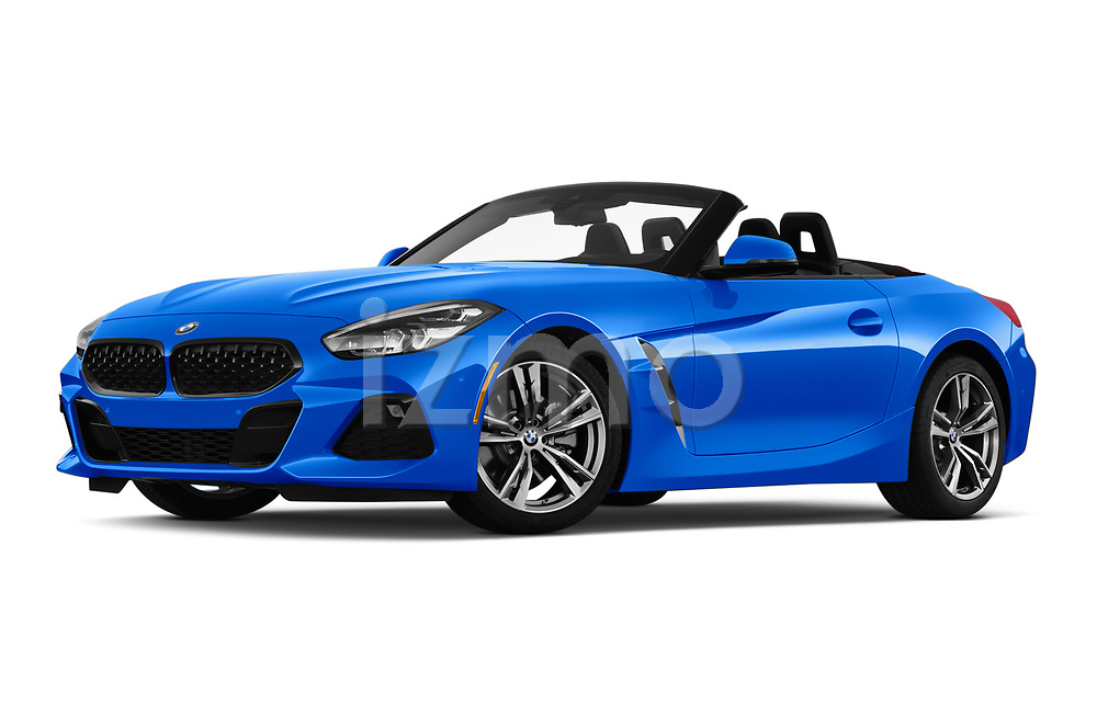 Stock pictures of low aggressive front three quarter view of a 2020 BMW Z4 Base 2 Door Convertible