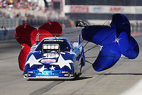 Nov 13, 2010; Pomona, CA, USA; NHRA top alcohol funny car driver Bret Williamson during qualifying for the Auto Club Finals at Auto Club Raceway at Pomona. Mandatory Credit: Mark J. Rebilas-