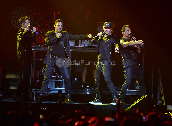 HOLLYWOOD, FL - JULY 16: Jonathan Knight, Joey McIntyre, Jordan Knight Donnie, Wahlberg and Danny Wood of New Kids On The Block perform during The Total Package Tour at Hard Rock Live at Seminole Hard Rock Hotel & Casino – Hollywood on July 16, 2017 in Miami, Florida. Credit: MPI10 / MediaPunch