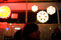 Los Angeles, Calif., Dec. 16, 2008 - Ramona Gonzalez of the band Nite Jewel at the Restaurant Alegria on Sunset in the Echo Park section of Los Angeles.