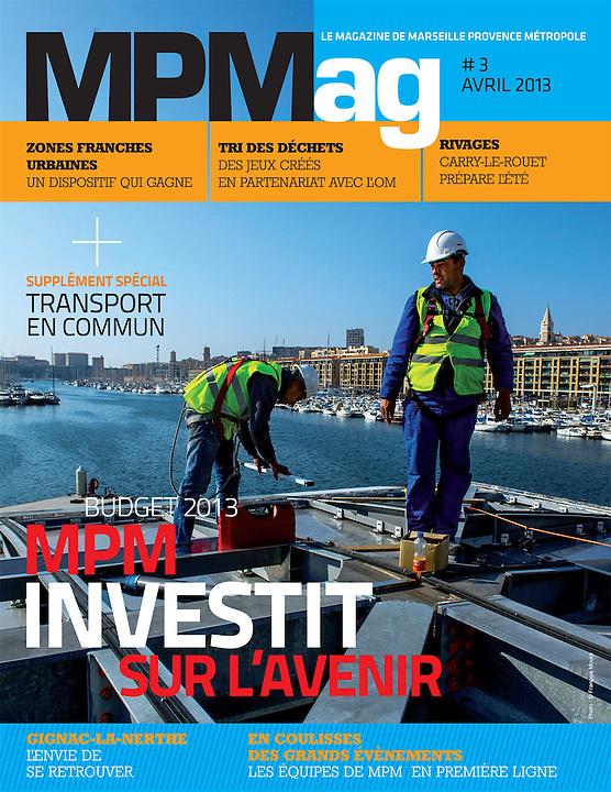 Reportage chantier de rénovation du Vieux-Port ( montage de l'ombrière de Norman Foster ) pour MPM - Marseille 2013