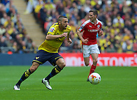 Liam Sercombe of Oxford United during the Johnstone's Paint Trophy Final match between Oxford United and Barnsley at Wembley Stadium, London, England on 3 April 2016. Photo by Alan  Stanford / PRiME Media Images.