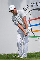 Andrew Landry (USA) chips on to 15 during 1st round of the World Golf Championships - Bridgestone Invitational, at the Firestone Country Club, Akron, Ohio. 8/2/2018.<br /> Picture: Golffile | Ken Murray<br /> <br /> <br /> All photo usage must carry mandatory copyright credit (© Golffile | Ken Murray)