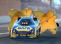 Nov 11, 2017; Pomona, CA, USA; NHRA funny car driver Ron Capps during qualifying for the Auto Club Finals at Auto Club Raceway at Pomona. Mandatory Credit: Mark J. Rebilas-USA TODAY Sports