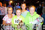 Margaret Carey, Gillian Bissett, Susan Carey and Saoirse Carey (Ballybunion) pictured with their dogs Nala (Yorkshire Terrier) and Nancy (Lahapso) pictured at the Woof Woof dog show in aid of Liam's Lodge on Sunday afternoon.