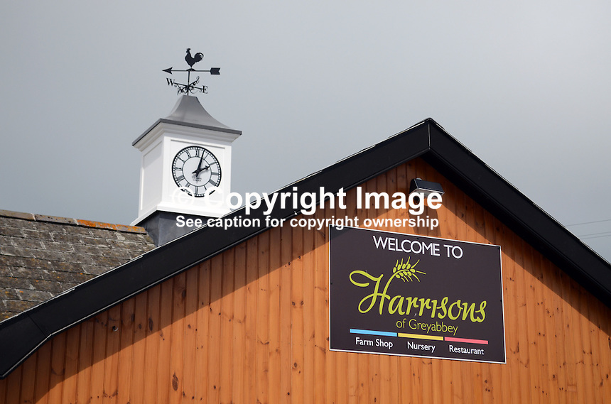 Signage, Harrisons Restaurant, Greyabbey, Co Down, 201207280452..Copyright Image from Victor Patterson, 54 Dorchester Park, Belfast, UK, BT9 6RJ..Tel: +44 28 9066 1296.Mob: +44 7802 353836.Voicemail +44 20 8816 7153.Skype: victorpattersonbelfast.Email: victorpatterson@me.com.Email: victorpatterson@ireland.com (back-up)..IMPORTANT: If you wish to use this image or any other of my images please go to www.victorpatterson.com and click on the Terms & Conditions. Then contact me by email or phone with the reference number(s) of the image(s) concerned.