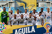 SANTA MARTA-COLOMBIA, 14-09-2019: Jugadores de Deportes Tolima, posan para una foto, antes de partido entre Unión Magdalena y Deportes Tolima, de la fecha 11 por la Liga Águila II 2019, jugado en el estadio Sierra Nevada de la ciudad de Santa Marta. / Players of Deportes Tolima, pose for a photo, prior a match between Union Magdalena and Deportes Tolima, of the 11th date for the Aguila Leguaje II 2019 played at the Sierra Nevada Stadium in Santa Marta city. Photo: VizzorImage / Gustavo Pacheco / Cont.
