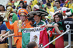 Netherlands and Mexico fans, JUNE 29, 2014 - Football / Soccer : FIFA World Cup Brazil<br /> match between Netherlands and Mexico at the Castelao stadium in Fortaleza, Brazil. (Photo by AFLO)