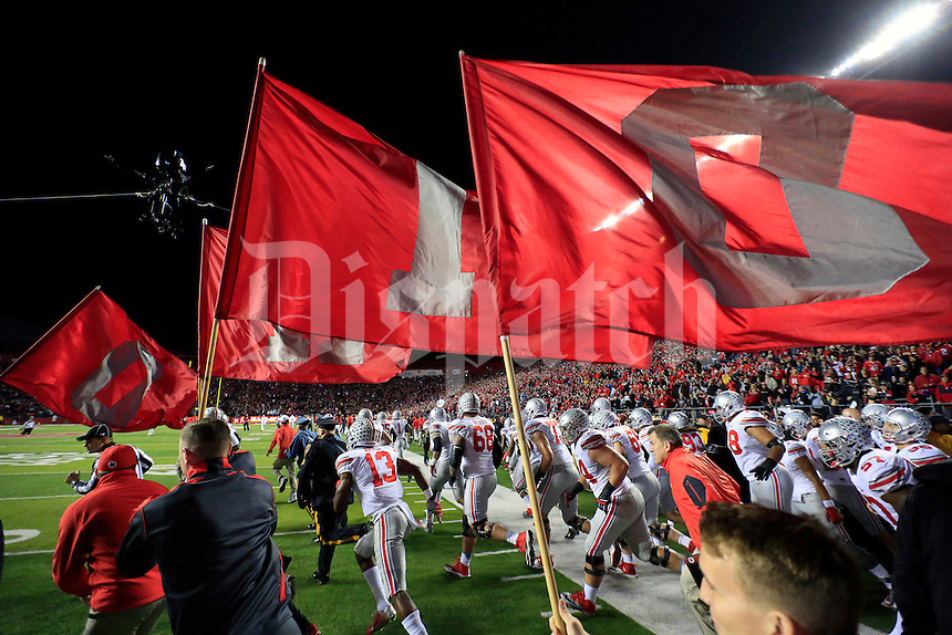 Ohio State Buckeyes take on Rutgers Scarlet Knights at High Point Solutions Stadium on October 24, 2015.  (Dispatch photo by Kyle Robertson)