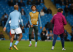 Leroy Sane of Manchester City warms up before the Champions League Group F match at the Emirates Stadium, Manchester. Picture date: September 26th 2017. Picture credit should read: Andrew Yates/Sportimage