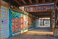Street Art Murals in the railroad underpass, Joliet, Illinois.  In a public art project, street murals were painted all over the city of Joliet, Illinois.