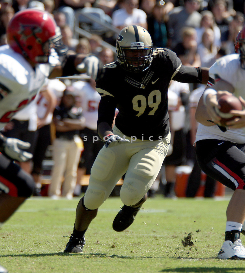 RYAN RUSSELL, of the Purdue Boilermakers, in action during Purdue's game against Southeast Missouri State on September 17, 2011 at Ross Ade Stadium in West Lafayette IN. Purdue beat Southeast Missouri 59-0.