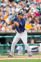 Desmond Jennings (8) of the Tampa Bay Rays at bat against the Detroit Tigers at Comerica Park on June 4, 2013 in Detroit, Michigan.  The Tigers defeated the Rays 10-1.  Brian Westerholt/Four Seam Images