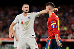 Spain's Sergio Ramos and England's Eric Dier during UEFA Nations League 2019 match between Spain and England at Benito Villamarin stadium in Sevilla, Spain. October 15, 2018. (ALTERPHOTOS/A. Perez Meca)