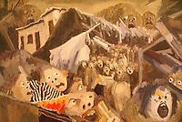Del terremoto de 10 de octubre (1986) by Bernabé Crespin, Museo de Arte de El Salvador (MARTE), San Salvador, El Salvador