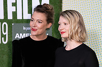"Mirrah Foulkes and Mia Wasikovska<br /> arriving for the ""Judy and Punch"" london Film Festival 2019 screening at Embankment Gardens, London<br /> <br /> ©Ash Knotek  D3523 12/10/2019"