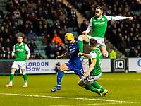 28th February 2020; Easter Road, Edinburgh, Scotland; Scottish Cup Football, Hibernian versus Inverness Caledonian Thistle; Adam Jackson of Hibernian scores the opening goal to make it 1-0 to Hibernian in the 38th minute