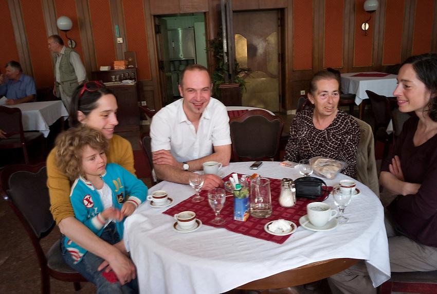 Left Ljudmila with Maj Stratimirovic, Dejan Ubovic , mother Strarimirovic , Aleksandra Stratimirovic, Saturdaj morning coffe at hotel Bristol