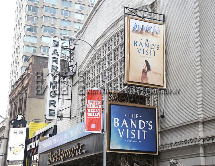Theatre Marquee unveiling for 'The Band's Visit' at the Ethel Barrymore Theatre on July 14, 2017 New York City.