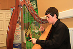 Michael O' Neill plays the Harp for the Florale Judges in the Tholsel Tourist Office..Picture: Shane Maguire / www.newsfile.ie.