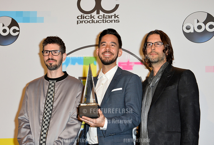 Linkin Park at the 2017 American Music Awards at the Microsoft Theatre LA Live, Los Angeles, USA 19 Nov. 2017<br /> Picture: Paul Smith/Featureflash/SilverHub 0208 004 5359 sales@silverhubmedia.com