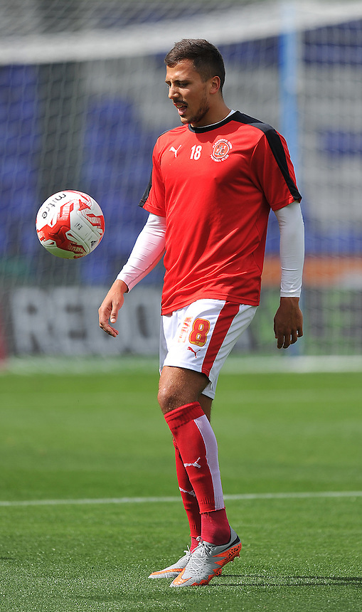 Fleetwood Town's Antoni Sarcevic warms up<br /> <br /> Photographer Dave Howarth/CameraSport<br /> <br /> Football - The Football League Sky Bet League One - Oldham Athletic v Fleetwood Town - Saturday 15th August 2015 - SportsDirect.com Park - Oldham<br /> <br /> &copy; CameraSport - 43 Linden Ave. Countesthorpe. Leicester. England. LE8 5PG - Tel: +44 (0) 116 277 4147 - admin@camerasport.com - www.camerasport.com