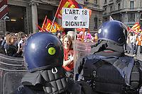 - Milano, manifestazione &quot;Occupy Piazza Affari&quot; promossa da tutti i partiti e le organizzazioni di estrema sinistra in protesta contro il governo Monti<br /> <br /> - Milan, demonstration &quot;Occupy Piazza Affari&quot; organized by all parties and organizations of the extreme left in protest against the government Monti