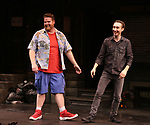 """Nick Kohn and Jason Jacoby during """"Avenue Q"""" Celebrates World Puppetry Day at The New World Stages on 3/21/2019 in New York City."""