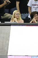16 December 2006: Stanford Cardinal assistant media relations director Jeane Goff during Stanford's 30-27, 26-30, 28-30, 27-30 loss against the Nebraska Huskers in the 2006 NCAA Division I Women's Volleyball Final Four Championship match at the Qwest Center in Omaha, NE.