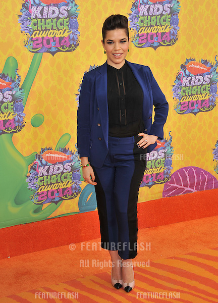 America Ferrera at Nickelodeon's 27th Annual Kids' Choice Awards at the Galen Centre, Los Angeles.<br /> March 29, 2014  Los Angeles, CA<br /> Picture: Paul Smith / Featureflash