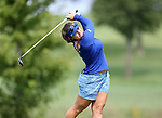 SIOUX FALLS, SD - AUGUST 31: Ani Gulugian watches her tee shot on the 9th hole, her 18th hole, during the first round of the Great Life Challenge, Symetra Tour stop at Willow Run Thursday afternoon. (Photo by Dave Eggen/Inertia)