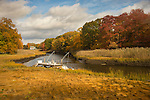 Indian River inlet in autumn, Clinton, CT.