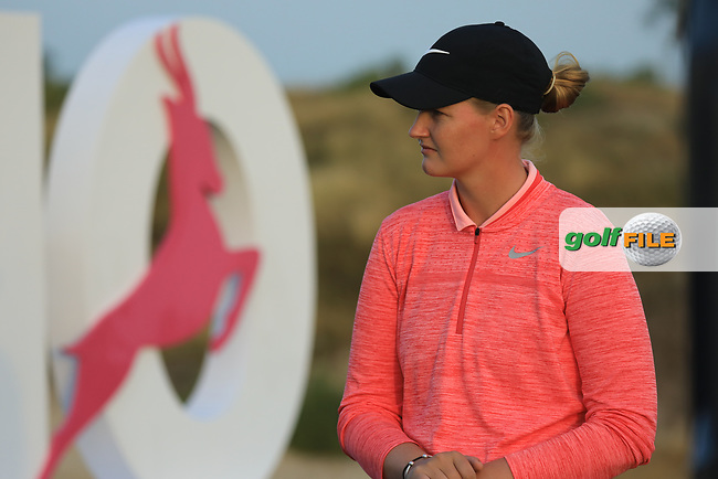Gabriella Cowley (ENG) during the first round of the Fatima Bint Mubarak Ladies Open played at Saadiyat Beach Golf Club, Abu Dhabi, UAE. 10/01/2019<br /> Picture: Golffile | Phil Inglis<br /> <br /> All photo usage must carry mandatory copyright credit (&copy; Golffile | Phil Inglis)
