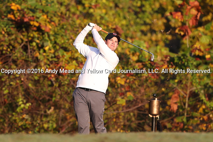 31 October 2016: Virginia Tech University's Drew Johnson. The Third Round of the 2016 Bridgestone Golf Collegiate NCAA Men's Golf Tournament hosted by the University of North Carolina Greensboro Spartans was held on the West Course at the Grandover Resort in Greensboro, North Carolina.