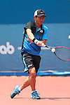 Koichi Nagae (JPN), <br /> AUGUST 28, 2018 - Soft Tennis : <br /> Men's Singles Preliminary Round <br /> at Jakabaring Sport Center Tennis Courts <br /> during the 2018 Jakarta Palembang Asian Games <br /> in Palembang, Indonesia. <br /> (Photo by Yohei Osada/AFLO SPORT)